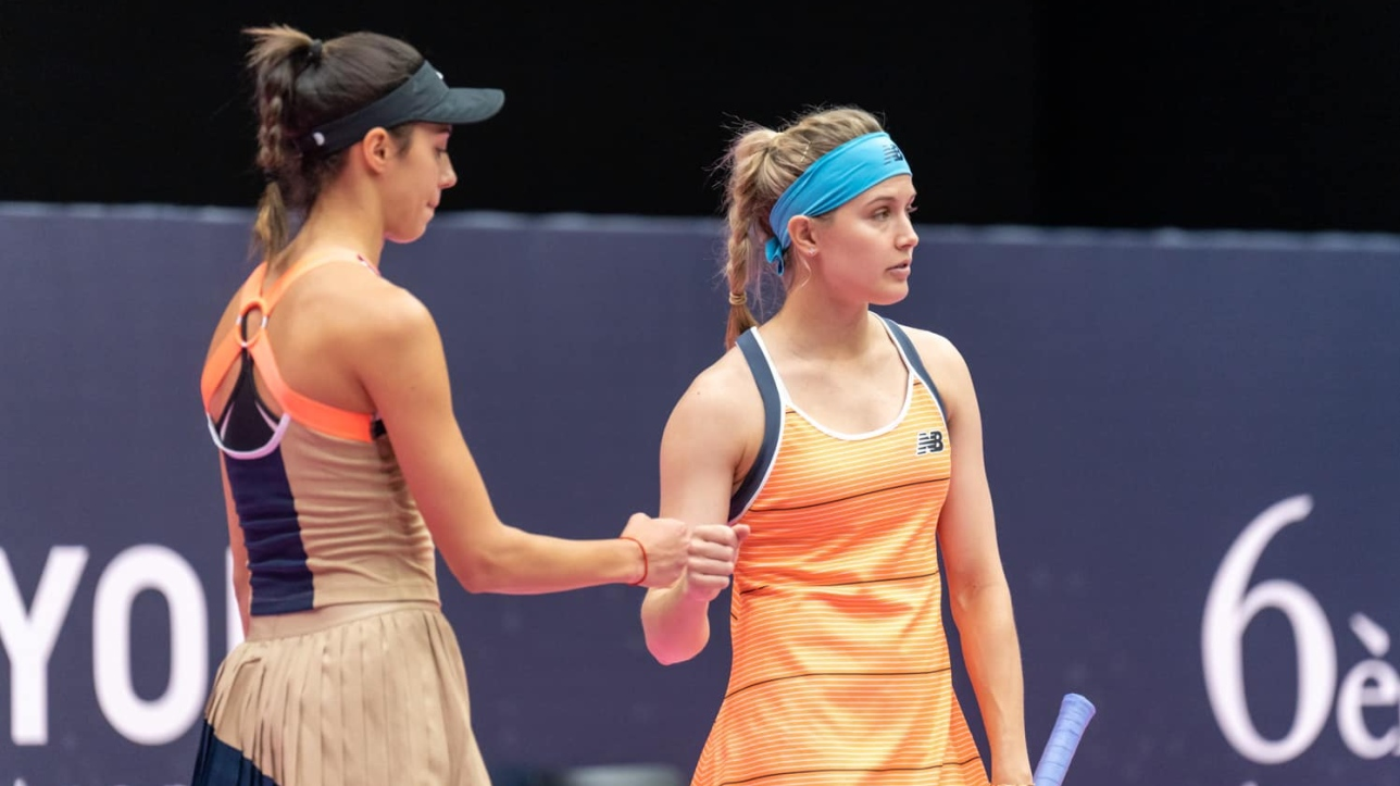 Eugenie Bouchard et sa partenaire Olga Danilovic s'inclinent en finale du tournoi de Lyon