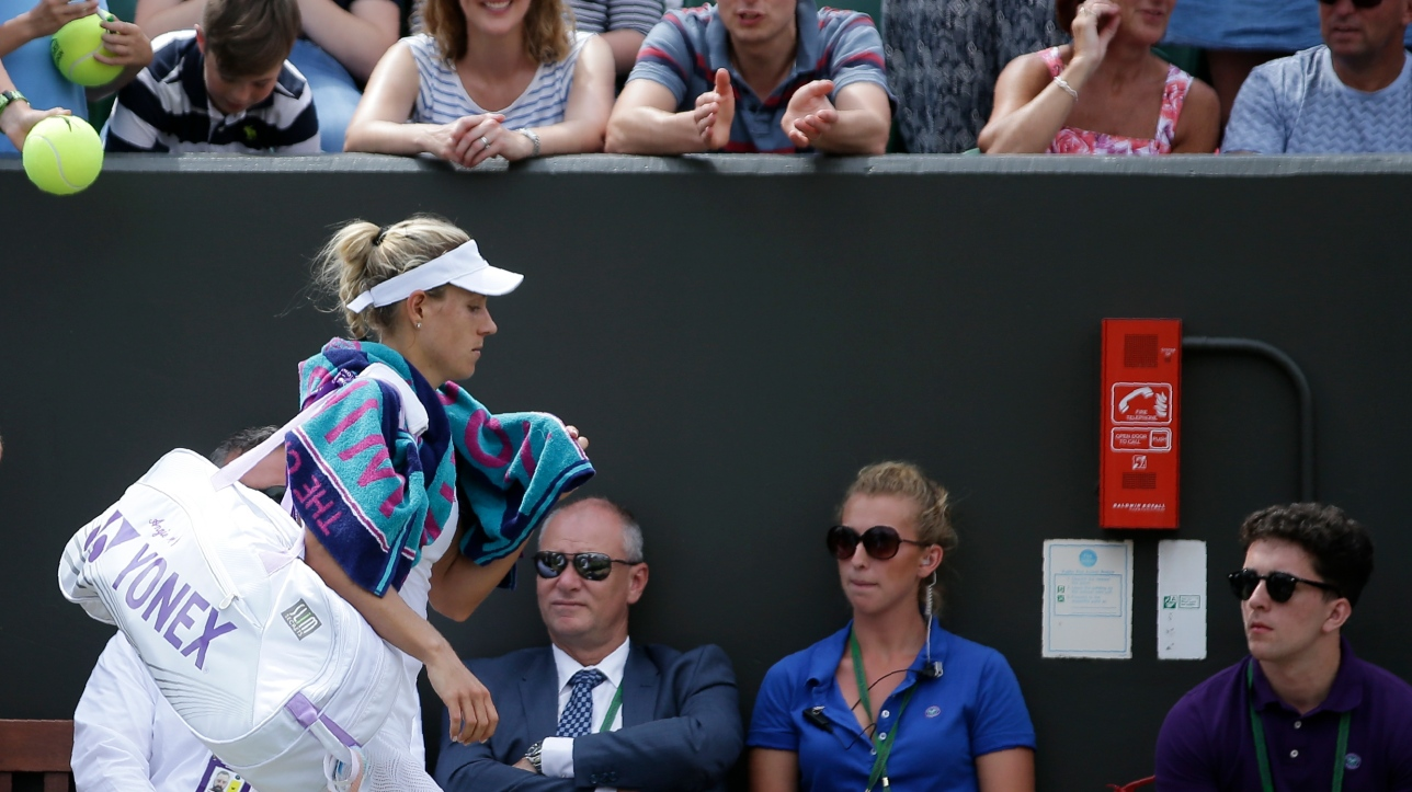 Wimbledon : éliminée par Garbine Muguruza, Angelique Kerber va perdre sa place de no 1