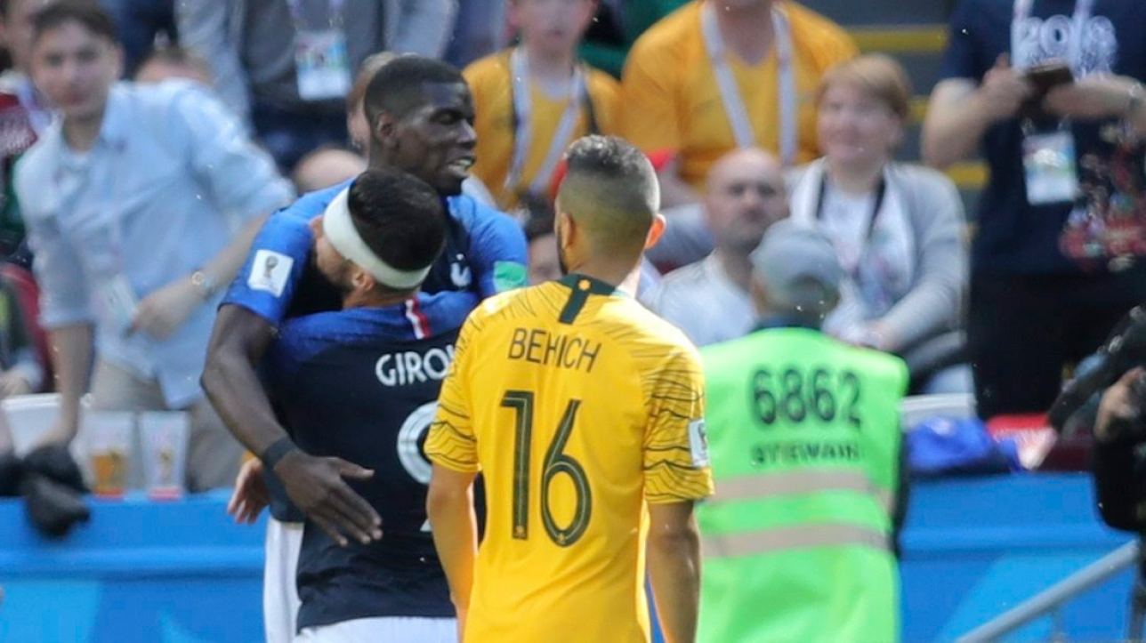 Coupe du monde fifa 2018 paul pogba d pouill de son but gagnant contre l 39 australie - Gagnant de la coupe du monde ...
