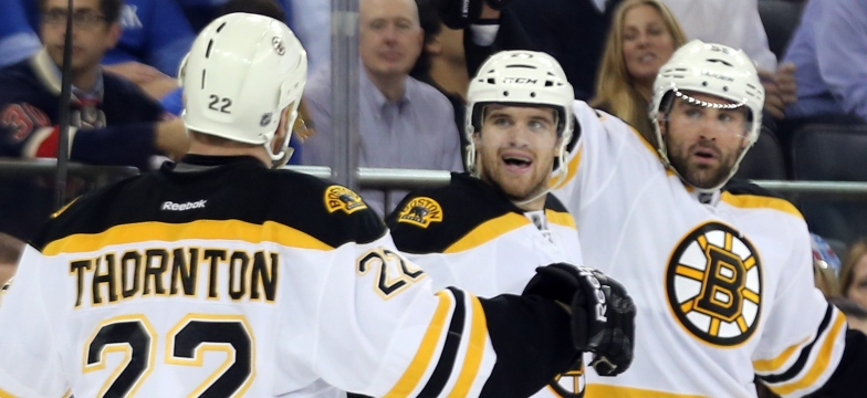 Shawn Thornton, Daniel Paille et Johnny Boychuk