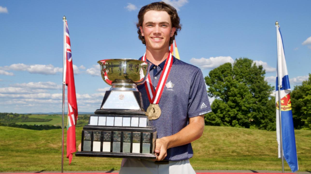 Golf : Christopher Vandette remporte le Championnat canadien junior masculin   RDS.ca