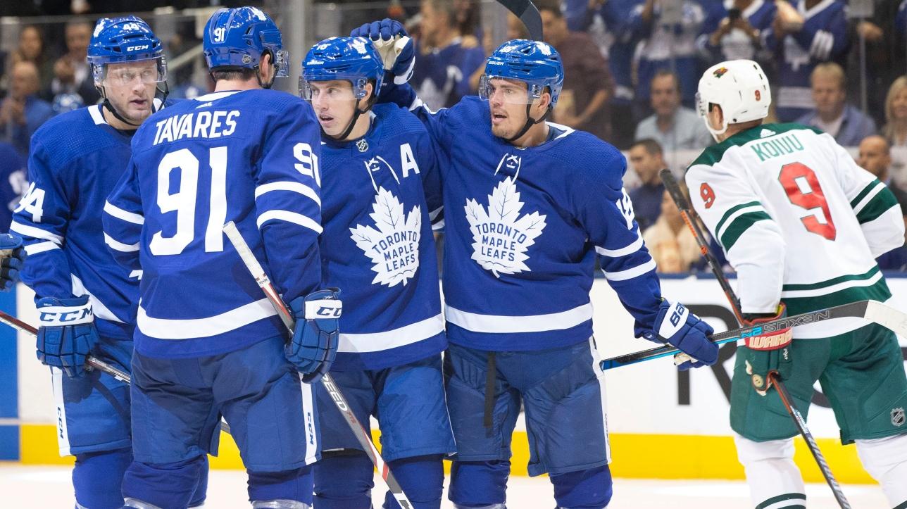 LNH : les Maple Leafs de Toronto doublent le Wild du Minnesota au compte de 4-2 | RDS.ca